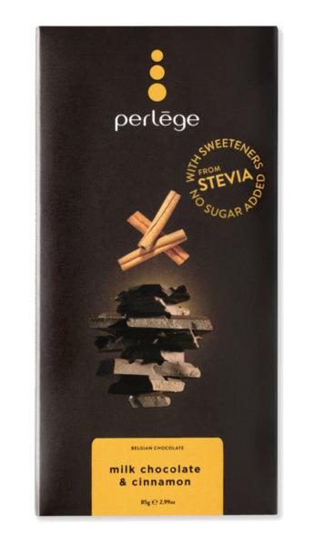 Perlége млечен шоколад с канела без захар